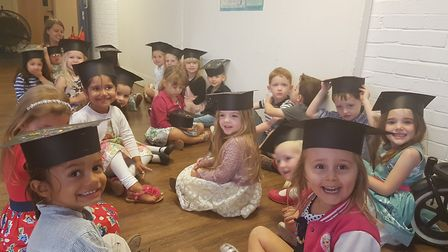 Busy Bees nursery held a graduation event.