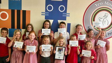 Pupils received certificates for their work.
