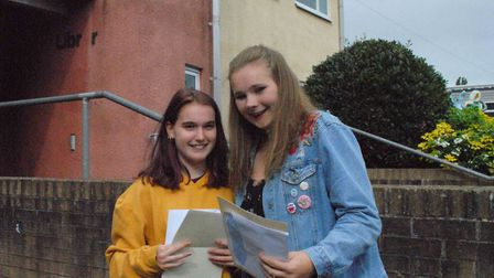GCSE pupils collecting their exam results.
