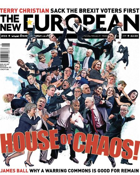Front cover of the latest edition of The New European. Photograph: TNE/Archant.