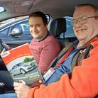 Neil Bayliss advanced driving instructor with reporter Ron Walker.