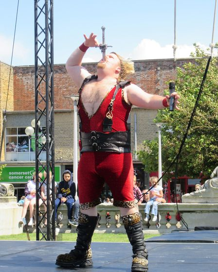 There was live music, mechanical horse, sword swallower and food outlets for lots of people to enjoy
