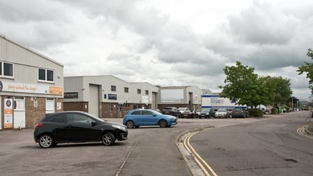 Old Mill Road industrial business estate, Portishead.
