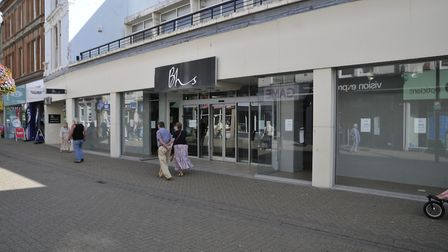 The vacant BHS unit in the High Street.