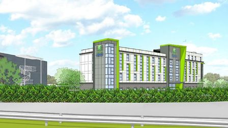 An artist's impression of the Holiday Inn Express at Weston Gateway.