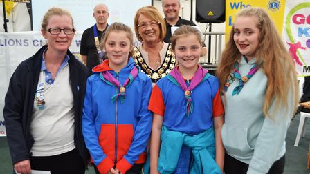 Weston Mendip District Guiding received a cheque at the Go Kids Go! presentation. Picture: Eleanor Y