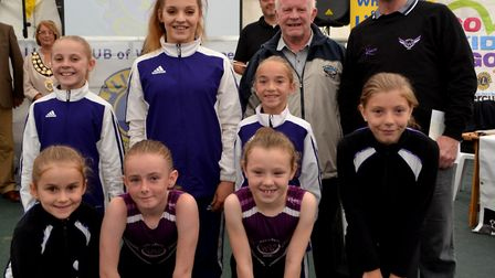 Weston Aerobics Gymnastics received a cheque at the Go Kids Go! presentation. Picture: Eleanor Young
