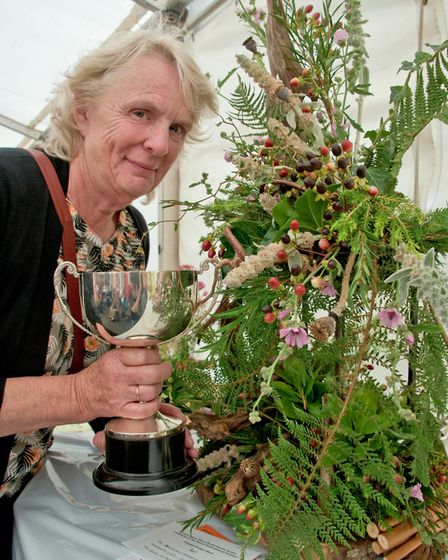 Dawn Underwood who won best in show for her Floral Art.