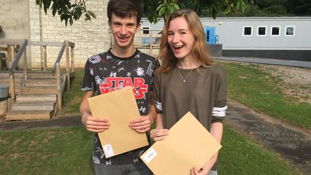 Clevedon students with their A-Level results in 2016.