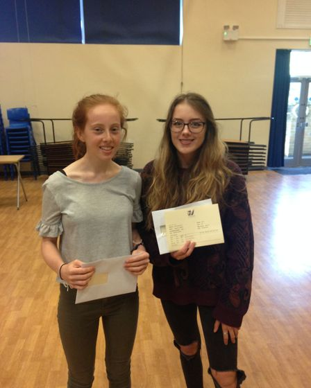 Emma Steel (left) is off to study biomedicine at the University of Sheffield after receiving AAA gra