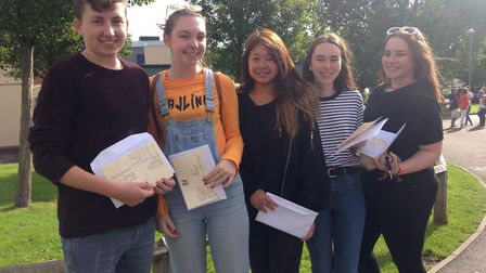 Students picked up their A-level results on August 17.
