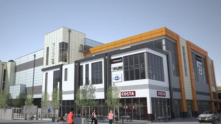 An artist's impression of the Dolphin Square site.