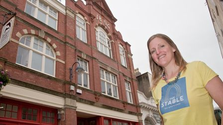 Kerry O'Neill, outside the building which will reopen next month as Weston's new creative hub.