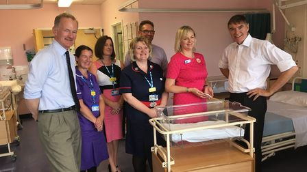 Health Minister Philip Dunne and MP John Penrose met with staff at Weston General Hospital.