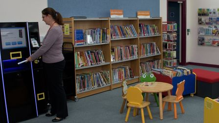 Yatton Library's newly redecorated and refurbished building.