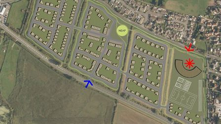 The proposed development on Sanders Fields, in Bleadon, off the A370. Picture: Sutherland Property a
