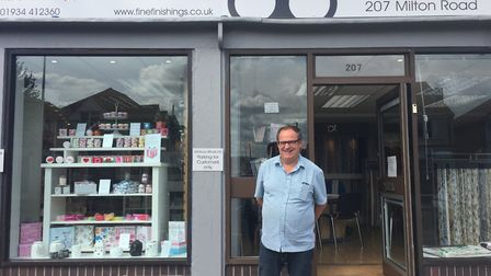 Nigel Reasons at Ashbury Blinds, which has just moved into Milton Road.