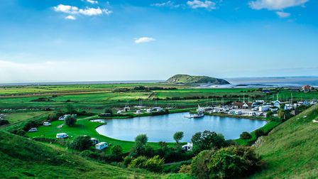 The view overlooking the boatyard and surrounding area from the top of Uphill. Picture: Mark Anstee