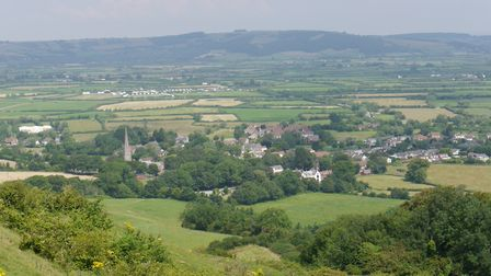 The view from Brent Knoll. Picture: Terry Kelly