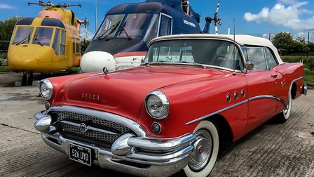 Vintage American cars will be on display alongside historic helicopters this weekend.
