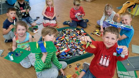 St Nicholas Chantry Primary School, Clevedon - Lego workshop being held at the out of school club.
