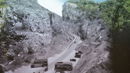 Modern footage blends with period photogaphs in Beyond The View. Picture: Cheddar Gorge and Caves