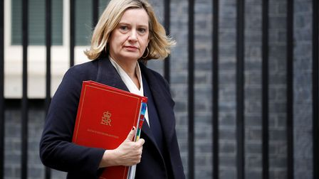 Britain's Work and Pensions Secretary Amber Rudd. (Photo by TOLGA AKMEN/AFP/Getty Images)