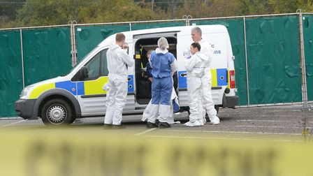 Police forensics at the scene on the A369 in Portbury. Picture: Ben Birchall/PA Wire
