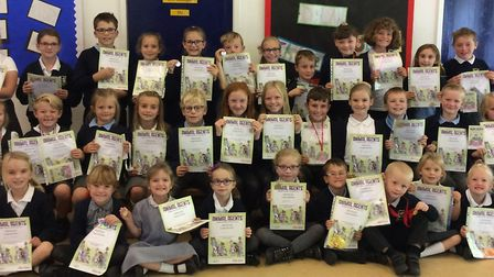 Mary Elton Primary School pupils with their certificates.