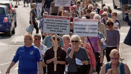 A march to save Old Mill Road was held in Portishead on September 23.