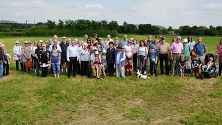 Wrington villagers campaigning against the development at Coxs Green with North Somerset MP Liam Fox