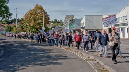 March to save Old Mill Road in Portishead.