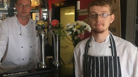 Chris Fry (left) has reopened La Tapa Continental.