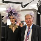 Dr Paul Phillips with the model used in demonstrations at the opening of Weston College's new salon.