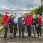 Staff members from law firm TLT with some of the search and rescue team. Picture: Jon Rowley