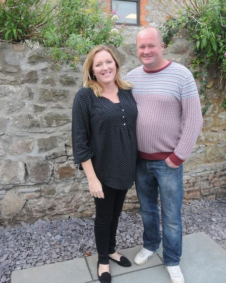 Owners Katharine and Paul White in the coffee shop courtyard.