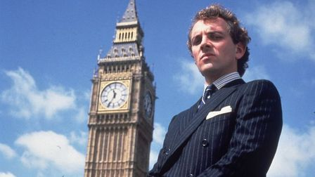 A MAN FOR OUR TIMES: Rik Mayall in his strangely prescient role as Conservative MP Alan B'stard Phot