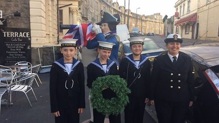 Weston sea cadets at Nelson's in Birnbeck Road.
