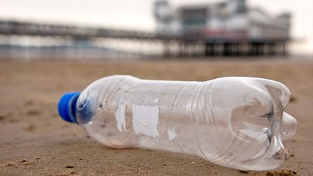 Plastic bottles regularly find their way into the sea.