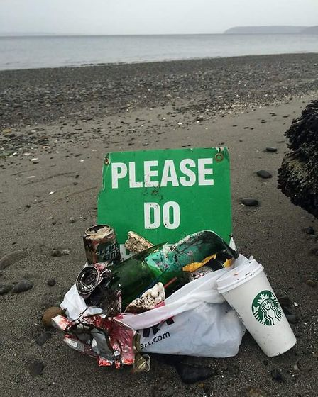 Litter found on the beach in Weston. Picture: Jeff George