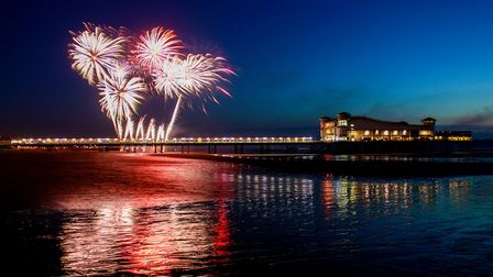 Fireworks at the Grand Pier. Picture: JACKIE CAVEN