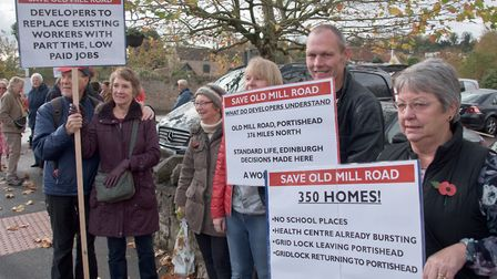 A second march was held on Saturday in Portishead.