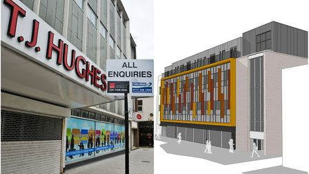 Before and after? TJ Hughes is set for redevelopment. Picture left; Mark Atherton. Picture right: AW