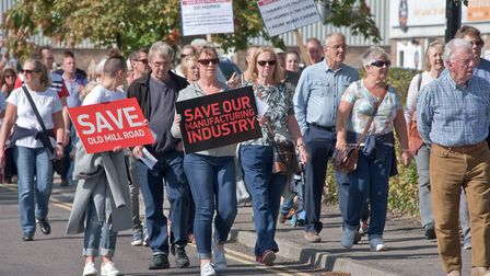 A march to save Old Mill Road in Portishead was held in September.