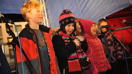 Wrington Primary School pupils provided some musical entertainment on Friday night. Picture: Jeremy