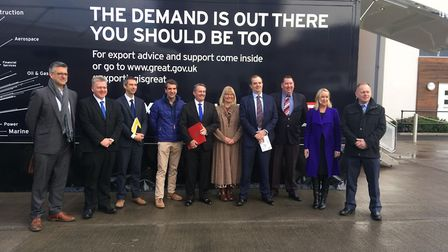 MP Liam Fox joins the Small Business Saturday roadshow in Portishead.
