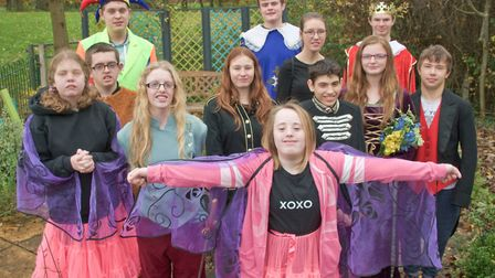 The cast of The Tempest from Ravenswood School.