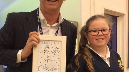 Mark Templer and Rebecca Pearce from Mary Elton Primary School in Clevedon.
