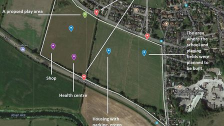 The new proposal for Sanders Fields in Bleadon. Picture: Google Maps
