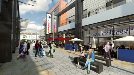 An artist's impression of the completed Dolphin Square.